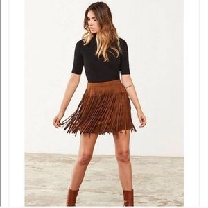 BB Dakota Dresses & Skirts - BNWT Bb Dakota Barton fringe skirt