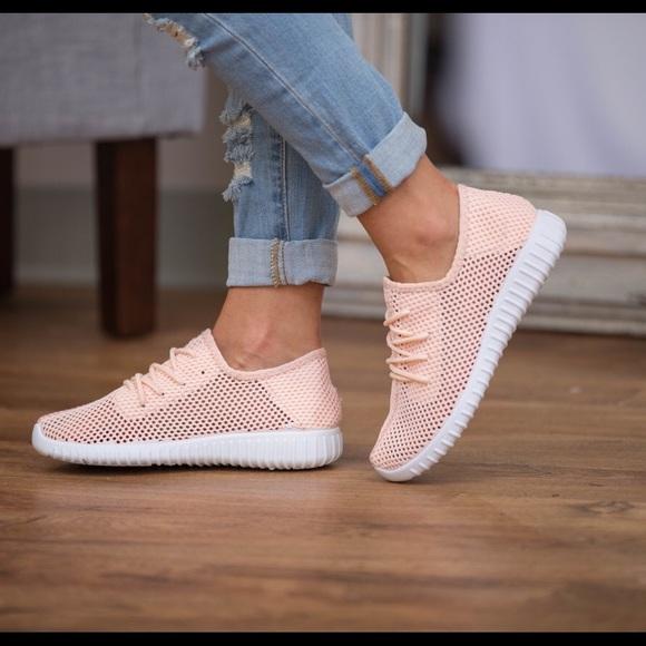Beachwave Boutique Shoes - 🆕Peach Mesh Sneakers