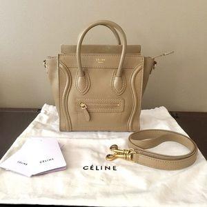 Celine Handbags - Celine Nano Luggage Tote