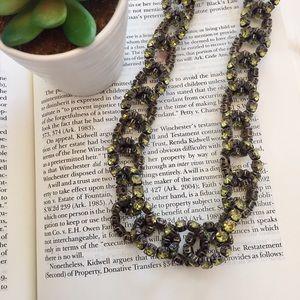J. Crew Jewelry - J. Crew • Green Rhinestone Stretch Necklace