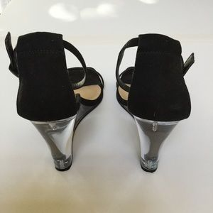 6755ee18c779 ASOS Shoes - Black strappy wedge w  clear heel