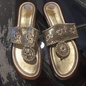A. Giannetti Shoes - A.Giannetti gold sandals