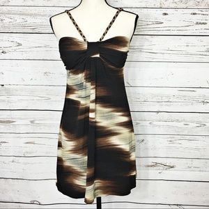 HeartSoul Dresses & Skirts - Heart Soul Brown Abstract Sleeveless Stretch Dress