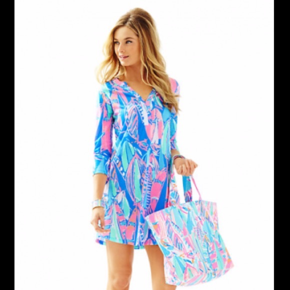 0d3204a48bf079 Lilly Pulitzer Dresses | Nwot Lilly Ali Dress Xs Bay Blue Out To Sea ...