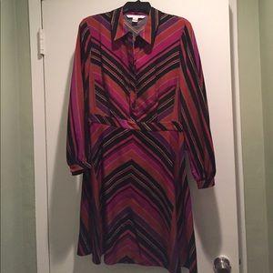 Diane Von Furstenberg Dresses & Skirts - DVF multi print striped dress, size 10