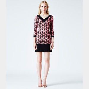 Leota Dresses & Skirts - NWT! LEOTA Olivia Shift in Pink Geo Diamond