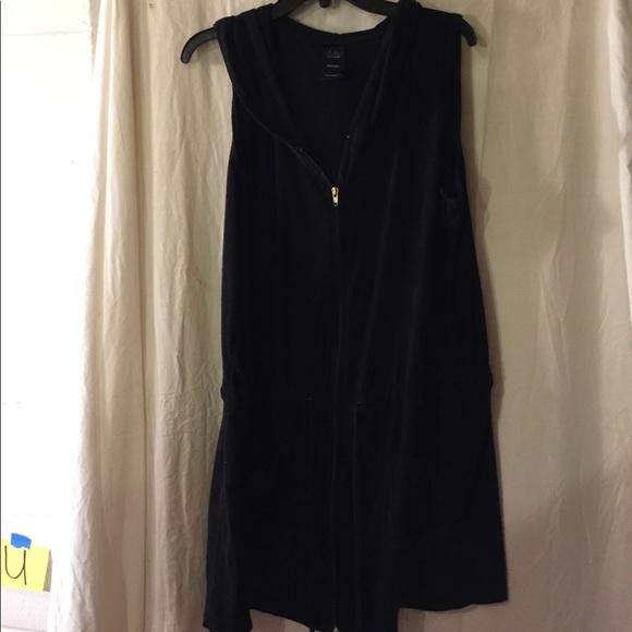 bfbdcf8d9ba11 catalina Other - Catalina zipper beach swim cover up xl black dress