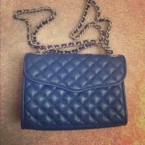 Rebecca Minkoff Mini Quilted Affair navy handbag