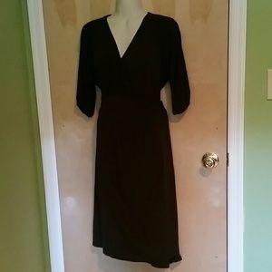 Dresses & Skirts - Chocolate Brown Wrap Dress