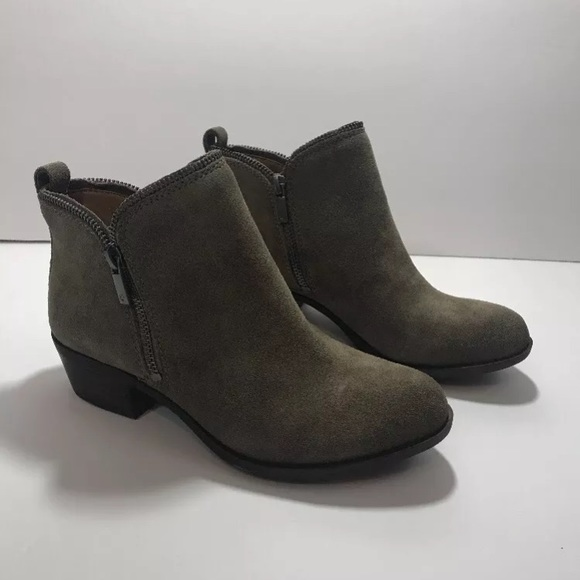 Lucky Brand Bartalino Bootie Italian Olive Leather