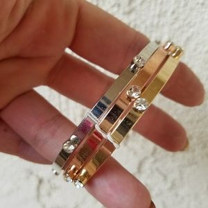 Jewelry - Set of 3 bangles w/clear rhinestones NWT