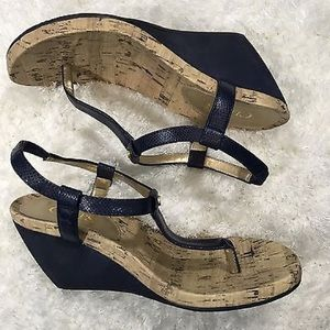 6c79c936875 Chaps Shoes - CHAPS NAVY BLUE THONG WEDGE SANDALS