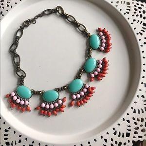 J. Crew Jewelry - Jcrew fringe statement necklace turquoise coral