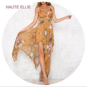 Haute Ellie Dresses & Skirts - 🆕 Peruvian Floral Print Halter Dress