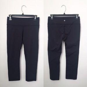 lululemon athletica Pants - Lululemon Wunder Under Crops in Naval Inkwell Blue