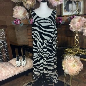 JBS Dresses & Skirts - JBS zebra print chiffon dress