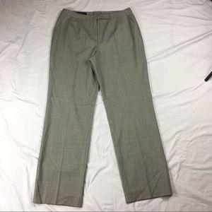 Escada Pants - Escada black houndstooth pleated trousers pants