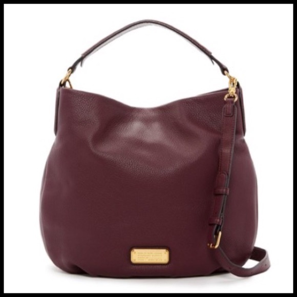 fd3aa0ac65c7 Marc Jacobs New Q Hillier Leather Hobo   Dark Wine