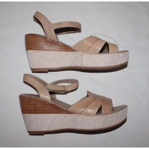 Antelope Shoes - ANTHROPOLOGIE ANTELOPE SLINGBACK WEDGE SANDAL 811