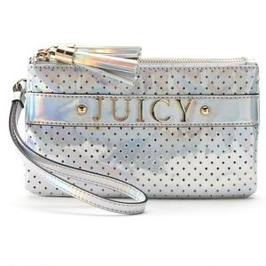 Juicy Couture Handbags - LAST‼️JUICY COUTURE IRIDESCENT WRISTLET CLUTCH