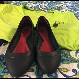 """CROCS Shoes - Crocs flats, """"iconic comfort"""".  size 7, black."""