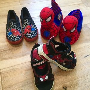 Other - Spider-Man shoes Lot 9-10 toddler