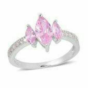 Jewelry - 💘SIMULATED PINK DIAMOND STERLING SILVER RING💘