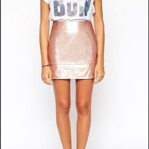 ASOS Rose metallic mini skirt