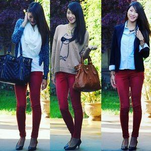 😻Zara Dark burgundy Skinny Jean