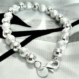 Jewelry - NIB! Silver bead bracelet