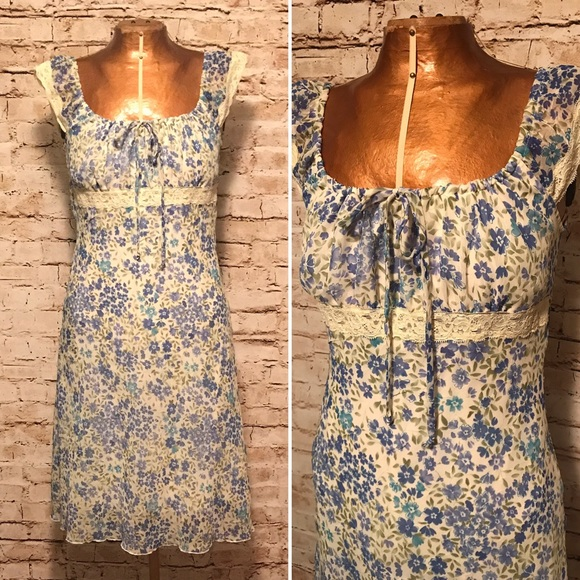 vintage vintage 1990s floral print babydoll dress from