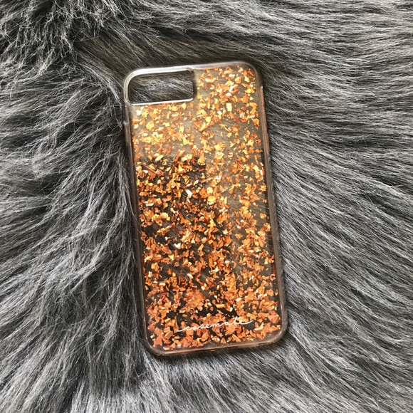 Rose Gold Flake Iphone  Case