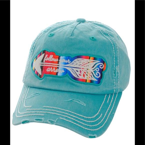 4fad83622f113 Distressed Serape Striped Arrow Baseball Hat Cap