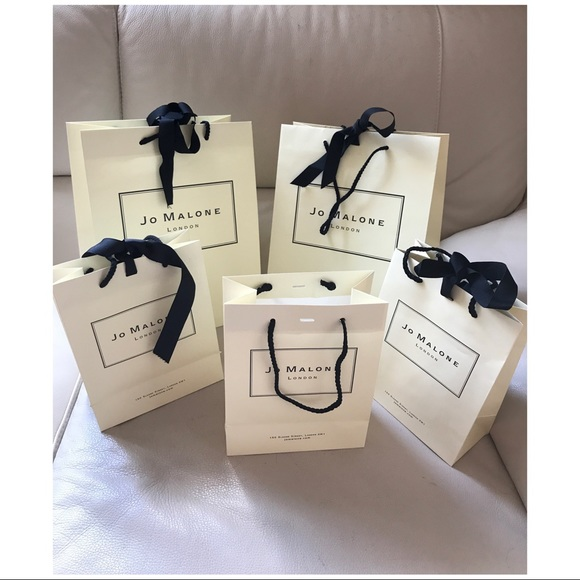 jo malone jo malone lot of 5 gift bags with ribbons from. Black Bedroom Furniture Sets. Home Design Ideas