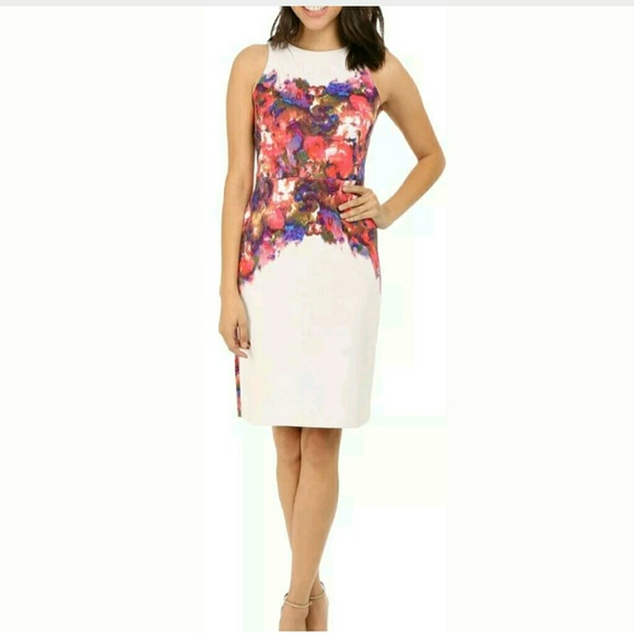 33 Off Maggy London Dresses Floral Placed Scuba Midi Dress Poshmark