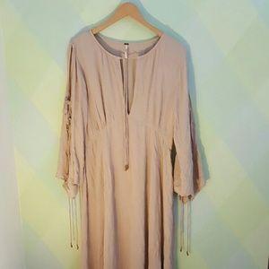 NWOT Free People Maxi Peasant Dress -L