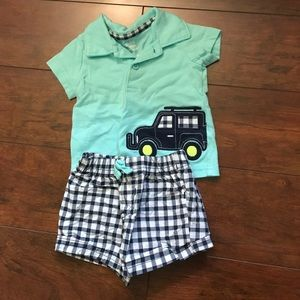 Carter's Other - Adorable baby boy shorts and top outfit