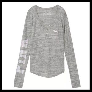 SOLD 💙 victoria's secret PINK // gray thermal top