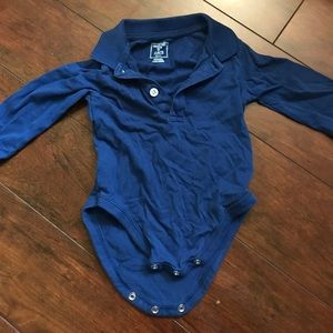 The Children's Place Other - Blue collared onesie