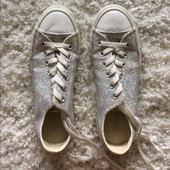 47 off converse shoes silver sparkly converse size 6