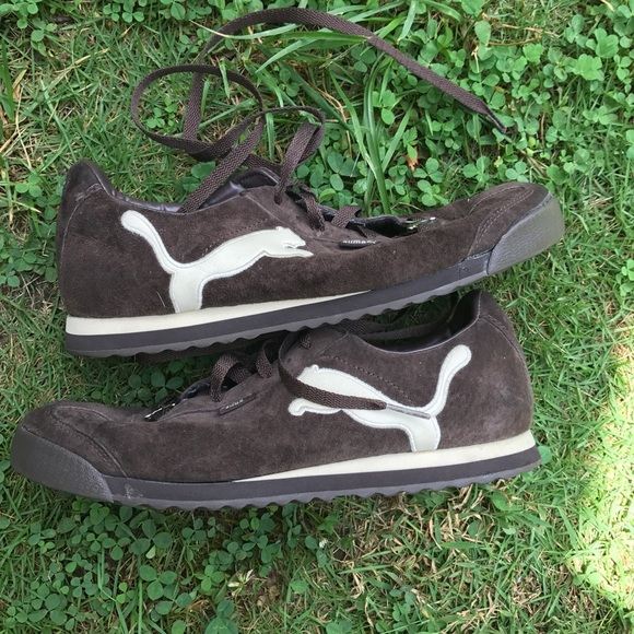 76 off puma shoes brown suede puma romas size 9 from