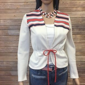 Vintage 50's USA Gay Gibson Polyester Blouse
