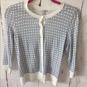 Halogen Sweaters - Halogen Geometric Print Cardigan