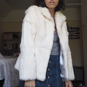 Vintage White Fur Coat