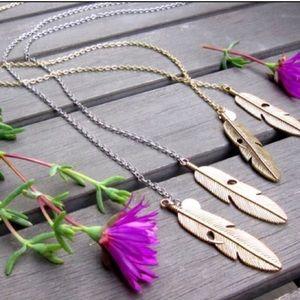Jessica Elliot Jewelry - Gold Feather Lariat