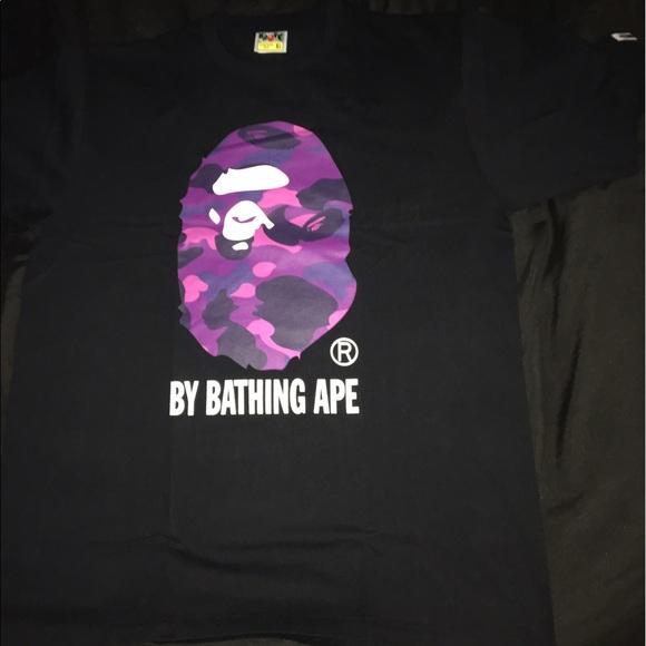 2c89630ad BAPE Shirts | Ape Color Camo Blackpurple Tee Xl | Poshmark