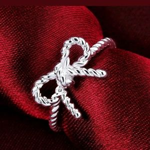 Jewelry - Bowknot ring SS 925 silver