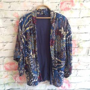 Zara Floral Printed Kimono Style Jacket