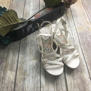 Hot Kiss Shoes - Hot Kiss White Strap Sandals