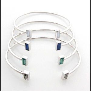 Jessica Elliot Jewelry - Wire Bracelets with Swarovski Crystals